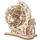 CCCYT Puzzles 3D de Madera Globo terráqueo Giratorio Modelo mecánico Rompecabezas...