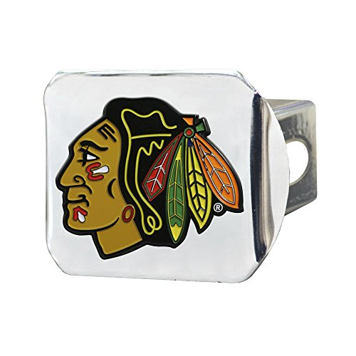 FANMATS NHL Chicago Blackhawks NHL - Chicago Blackhawkscolor Hitch - Chrome, Team Color, One Size