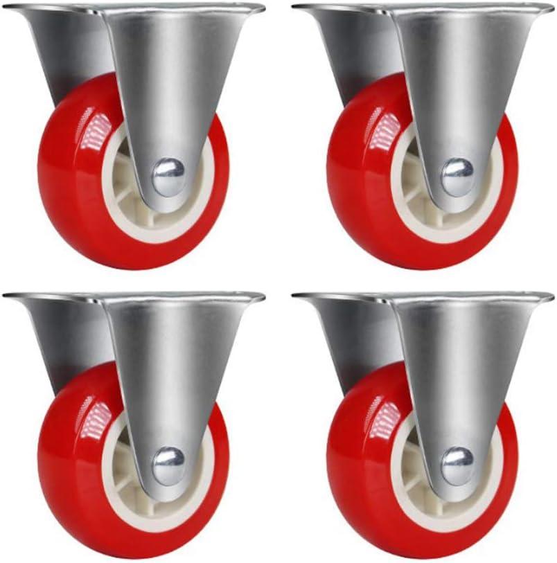 Svnaokr Lot de 4 roulettes de transport pour meubles 1 x roulettes, noir 1,25//32 mm vis