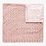Simple&Opulence Plush Fluffy Throw Blanket Tridimensional Rose Pattern - 50'x 60' - Reversible Dual Sided Soft Warm Microfiber Cozy Chic Shaggy Cuddly for Home Décor Couch (Pink)