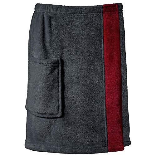 CelinaTex Happyfun Toalla de Sauna Tipo Falda S/M 48 x 152 cm Antracita Burdeos Mujer Hombre Micro Franela