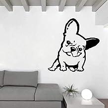 Bulldog Melancholy Face Dog Decoración Del Hogar Pvc Etiqueta De La Pared Calcomanía 58.5Cm * 60Cm