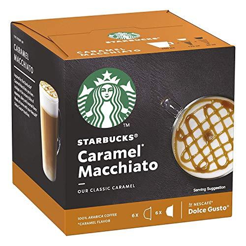 NESCAFÉ® Dolce Gusto® Starbucks® - Caramel Macchiato - 12 Kapseln / 6 Portionen - 100{fc43076a93cb4ecaa8be52424aaed5d839f12910c44da8a3f46540aa9da122a6} Arabica