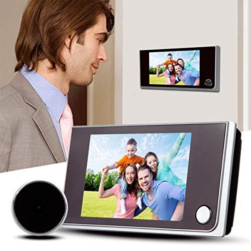 VORCOOL Visor de Puerta Digital de 3,5 Pulgadas Visor de Mirilla 120 Grados Puerta de ángulo Amplio HD Orificio de Ojo Puerta de Seguridad para el hogar Cámara de Mirilla Pantalla LCD Monitor