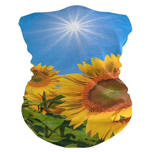 LZXO Bandana con diseño de girasol, sin costuras, para exteriores, pasamontañas, protector de cuello, bufanda, para protección contra el polvo, el viento y el sol