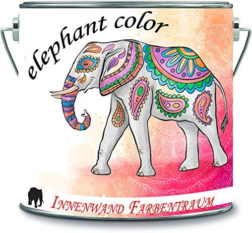 elephant color Pintura multicolor para paredes interiores de alta cobertura sin disolventes, 1 capa opaca (10 L), color blanco crema