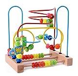 Lewo Motorikschleife aus Holz mit DREI verschiedenen Schleifen Tierkreis Roller Coaster um Korn Maze Spielzeug für Kinder Kleinkind