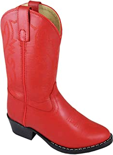 Smoky Children's Kid's Red Leather Western Cowboy Boot