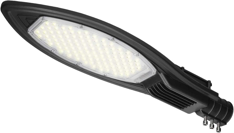 ECD Germany LED Straenlampe 100W - AC85-265V - Kaltwei 6000K - Wasserdicht IP66 - für Garten Hof Strae - Straenlaterne Straenleuchte Hofleuchte Auen Licht