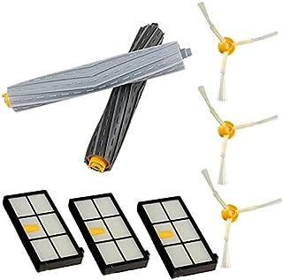880. 800 vhbw Set de recambio cepillos extractores de goma para iRobot Roomba 800er Serie 870