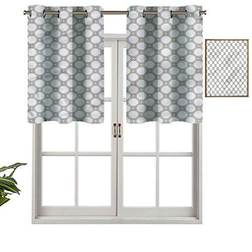Hiiiman Panel térmico para ventana con aislamiento extra corto, diseño heráldico, juego de 1, 106,7 x 45,7 cm