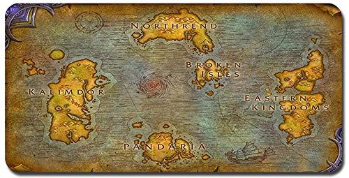 World of Warcraft großes Mauspad - wasserdicht und rutschfest (31, 900 * 400 * 3MM/35.5 * 15.7 * 0.12inch)