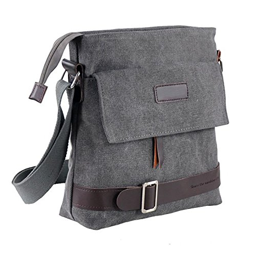 Mfeo Unisex Casual Retro Small Messenger Bag Shoulder Crossbody Bags Purse
