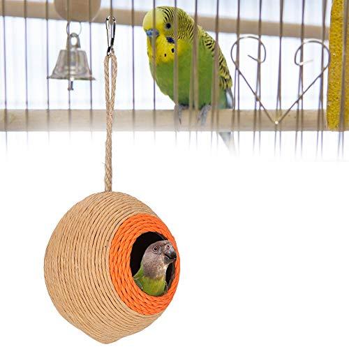 Bird Coconut House Cáscara de Coco Natural Nido de cría Cama Hideaway para Parrot Budgie Periquito Cockatiel Conure Canario Hamster Ardilla