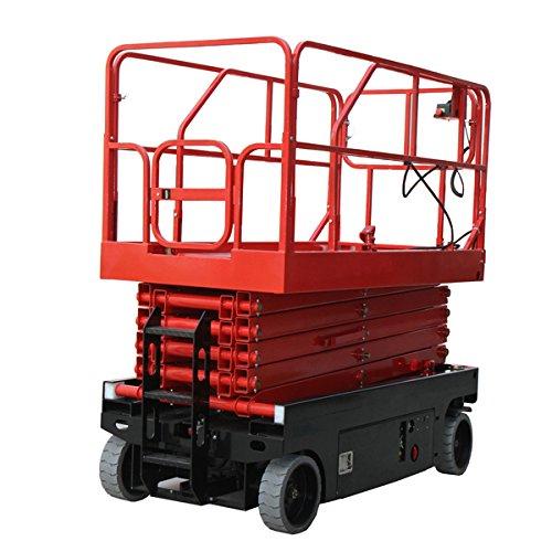 充電式高所作業台 耐荷重300kg 9.9M プラットホーム拡張機能 電動高所作業台 高所作業台 電動走行 コードレス ピッキング プラットホーム 業務用台車 リフト