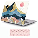 iCasso MacBook Air 13 Inch Case 2018-2020 Release A2337 M1/A1932/A2179 with Retina Display Touch ID, Durable Hard Plastic Shell Case and Keyboard Cover Compatible MacBook Air 13 - Abstract Scenery