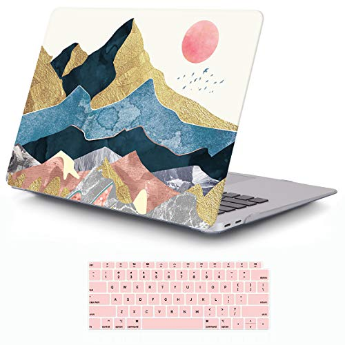 iCasso MacBook Air 13 Inch Case 2020 2019 2018 Release A1932/A2179 with Retina Display Touch ID, Durable Hard Plastic Shell Case and Keyboard Cover Compatible Newest - Abstract Scenery MacBook Air 13