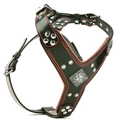 Bestia |EROS| Leder Brustgeschirr für große Hunde. Bis 145 cm Brustumfang. 100% Leder. Handgefertigt. Top Qualität