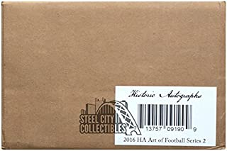 2016 Historic Autographs Art of Football Series 2 Hobby 16-Box Case