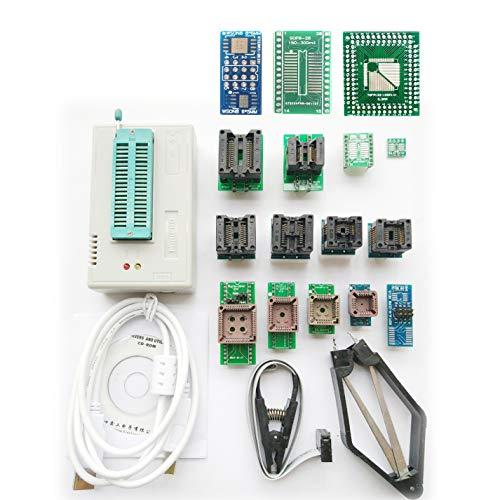 SETCTOP TL866II Plus USB Programmer +18 Adapter Socket+SOP8 Clip 1.8V nand Flash 24 93 25 mcu Bios EPROM AVR eprom