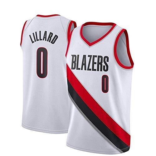 LDFN Maglia Basket Pallacanestro Jersey, Damian Lillard # 0 Portland Trail Blazers, Tessuto Traspirante E Ad Asciugatura Rapida, Ricamato Sport Swingman Maglietta S-XXL (Color : C, Size : S)