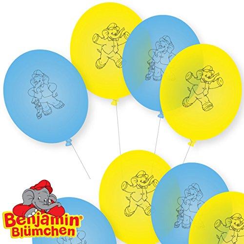 8 Luftballons * BENJAMIN BLÜMCHEN * als Deko für Kinderparty und Kindergeburtstag von DH-Konzept // Töröööö // Elefant Kinder Ballons Ballon Party Set