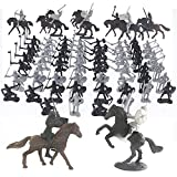 SSRSHDZW Soldado Juguete Figuras Plástico Soldado Medievales Caballeros Guerreros Niños Soldados Juguete Figuras Estáticas Modelo Set Juego Juego Castillos Arena Juguete Kit 28 PC