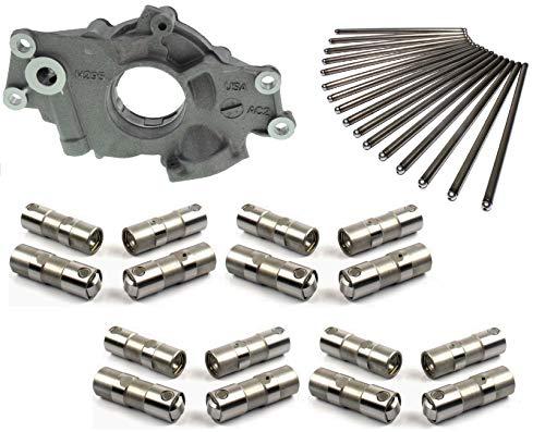 Melling Oil Pump, Elgin Push Rods & Lifters compatible with 1997-2012 Vortec Gm Chevrolet 4.8L 5.3L 6.0L Gen 3 Gen 4