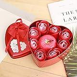 LYMS Sauber12 * 12 * 5 cmnicht werfen Rose seife Blume Apple Kerze Simulation Frieden Obst...