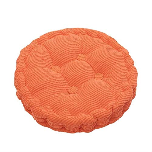 NV Solid Color Round Chair Cushion, Thicken Seat Pads Comfortable Breathable Soft Chair Cushion, For Outdoor Restaurant Tatami Office Chair 40x40cm orange