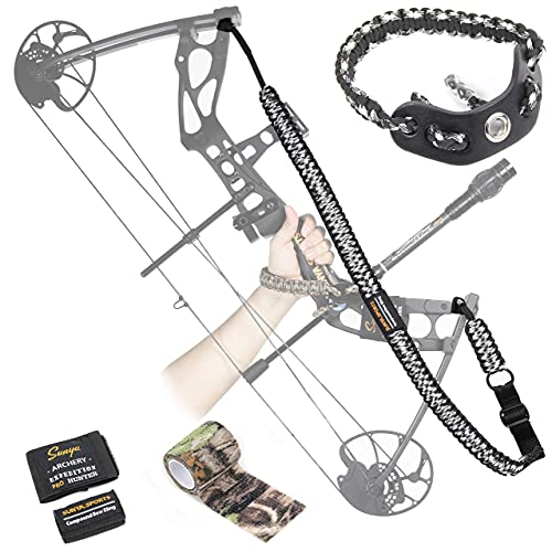 SUNYA Paracord Compound Bow Sling Archery Bow Wrist Sling