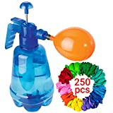 Water Balloon Pump with 250 Balloons Included - 3 in 1 Air and Water Balloon Filler Super Easy to Use for Summer Days - Water Balloon Inflator that Works Fast