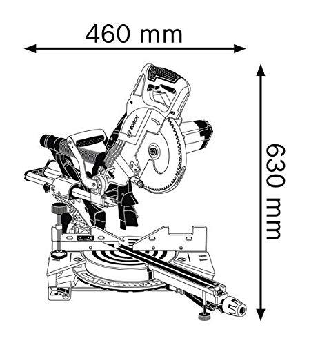 Bosch Professional 0601B19100 Scie à Onglets Radiale GCM 8 SJL (1600 W, Diamètre de Lame : 216 mm, Boite Carton) Bleu 25,4 cm