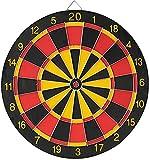 Bersaglio classico X1 + 6 freccette con punta in metallo, rosso, nero e giallo, 36 cm