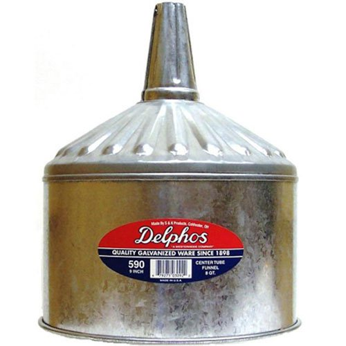 S & K PRODUCTS Funnel, 8-Qt.