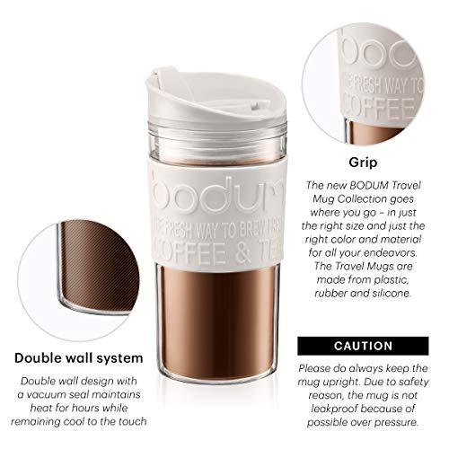 Bodum Travel Mug Plastic, Black, 11103-01S