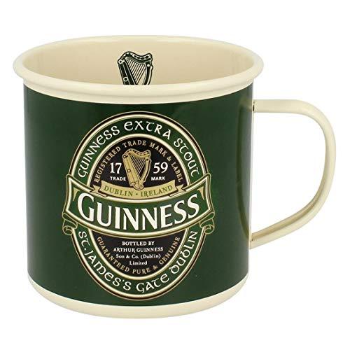 Tazza smaltata retrò con logo Guinness