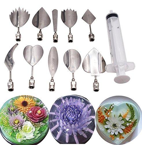 Jelly Art Tools 10PCS/set, Gelatine Art Tools Set -3d Jelly Kuchen tools-create Ihr individuelles Designs Schneller und leichter als je zuvor - e
