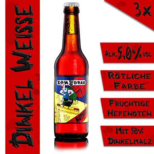 Zombräu Craft Beer Probierpaket - 12 x 0,33l Bier Set - In Handarbeit gebraute Biersorten mit einzigartigem Geschmack - Zum Bier Tasting oder als perfekte Geschenkidee - 3