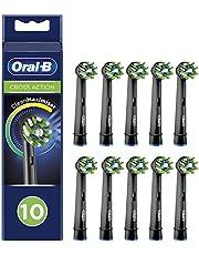 Oral-B CrossAction Opzetborstels Met CleanMaximiser-technologie, Zwart, 10 Stuks Brievenbusverpakking