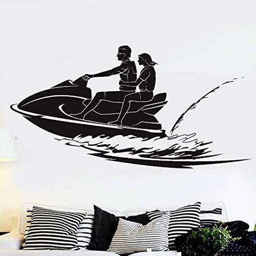 ONETOTOP Vinilo adhesivo para pared de deportes acuáticos, diseño de motos acuáticas, 82 x 42 cm