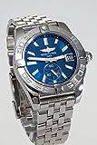 Breitling Galactic 36Damen Automatik Uhr mit Blau Zifferblatt Analog-Anzeige und Silber Edelstahl Armband A3733012/C824/376A - 2