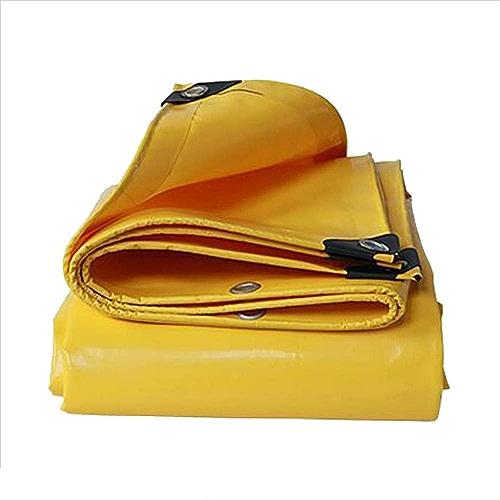 Bache YNN imperméable Robuste 0.05mm 500g   m étanche (Couleur   jaune, Taille   5X 5m)
