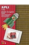 APLI Kids 13827-Cartón corrugado metálico A4 4 hojas