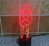 SmartEra 3D Optical Illusion 2016 New Mutants Deadpool Panel Model Lighting Night 7 Color Change USB Touch button LED Desk Table Light Lamp