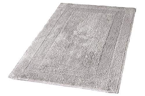 Kleine Wolke 5477146225 Badteppich Arizona, 70 x 120 cm, Grau(Silbergrau)