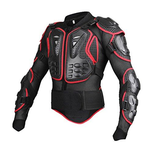 Toygogo Chaqueta de Cuerpo Entero Chaquetas Portective Chaquetas Deportivas de Motocross Bike - Rojo, S
