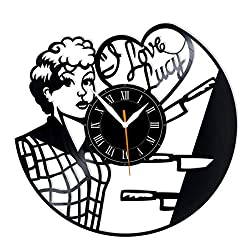 Leooolukkin I Love Lucy Vinyl Clock, Love Lucy Wall Clock 12, Original Gifts for Fans I Love Lucy, The Best Home Decorations