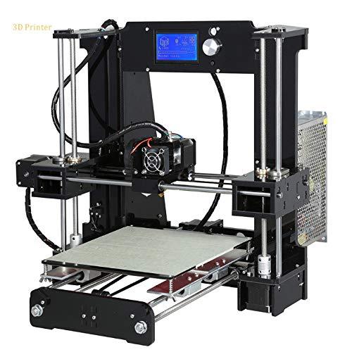 Ensemble d'imprimante Bricolage 3D avec système d'auto-Assemblage Haute précision Grand lit Chauffant, Fonction d'impression Hors Ligne sur Carte SD (220 x 220 x 250 mm),Black
