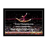 Póster artístico, lienzo de pared, Gabby Douglas, gimnasia americana, citas motivacionales olímpicas, impresión, decoración moderna, 60x80 cm, sin marco